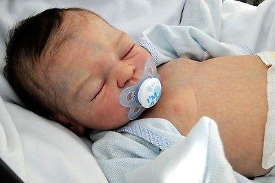 Amazing Reborn Baby Boy Teddy by Marita Winters, Reborn by Silvia Ezquerra!