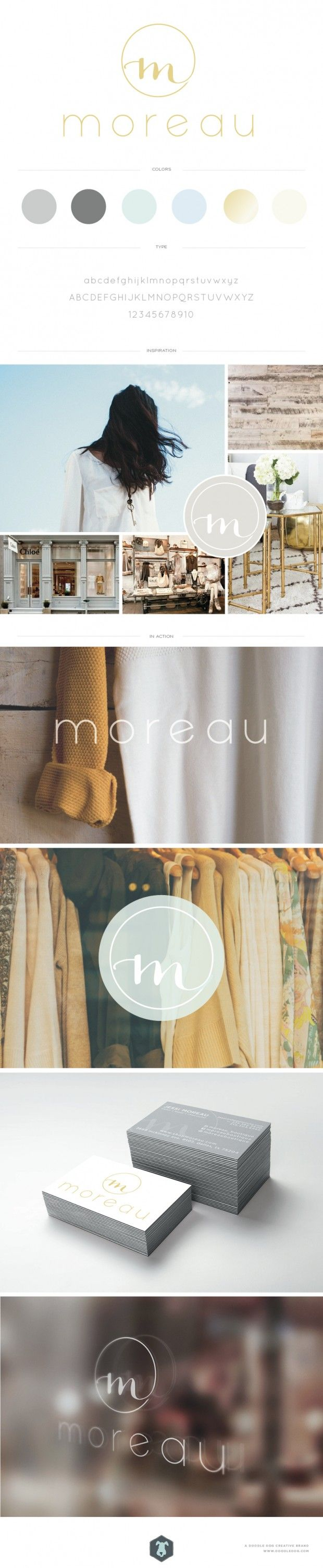Dallas Clothing Boutique Brand Identity – Moreau Boutique — by Doodle Dog Creative. #boutique #logo #design #designer. See more at www.doodledog.com