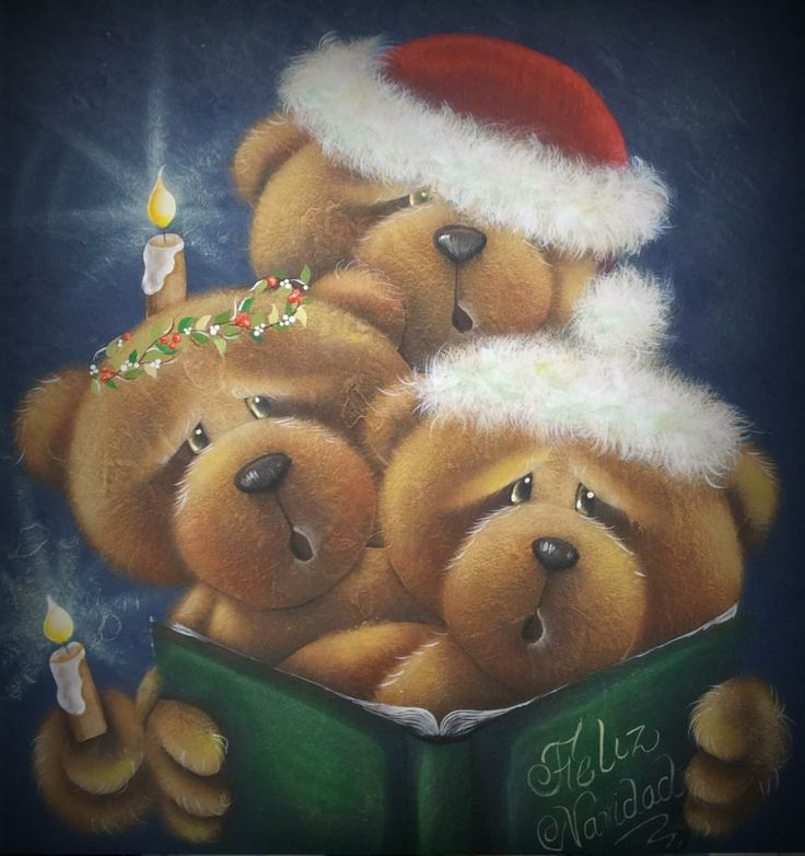 Singing Christmas Bears