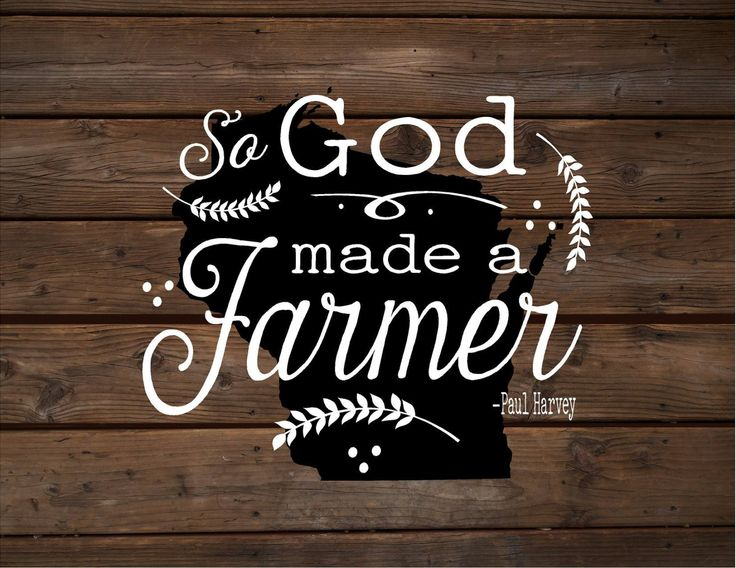 wisconsin so god made a farmer state silhoutte wood signs or canvas wall hanging paul harvey housewarming farm christmas fathers day gift