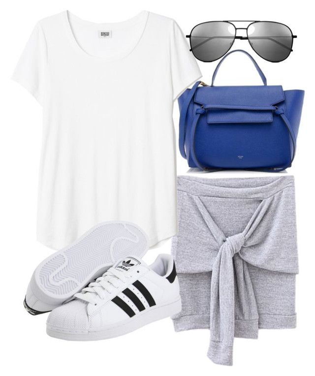 """""""Untitled #18523"""" by florencia95 ❤ liked on Polyvore featuring mode, CÉLINE, adidas Originals et Yves Saint Laurent"""