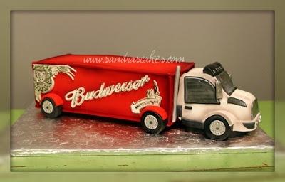Budweiser truck cake