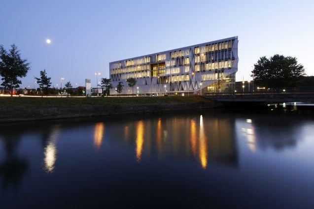 Southern university of Denmark in Kolding by Henning Larsen Architects.