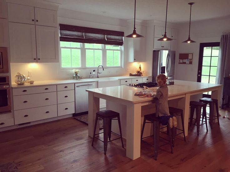 Kitchen | Two hour delays and windy, cold days mean slow mornings. I can get used to this view--Little A intently coloring in her favorite spot. If only it was always this quiet!