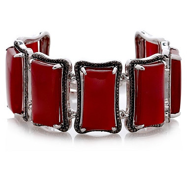Put the finishing touches on a spectacular look with this carnelian sterling silver bracelet featuring a fancy toggle from the Tracey Bregman Collection. #ilovetoshop