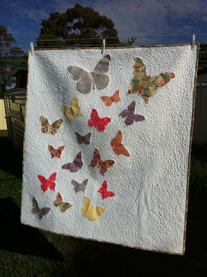 Alena's Butterfly Cot Quilt (2012)