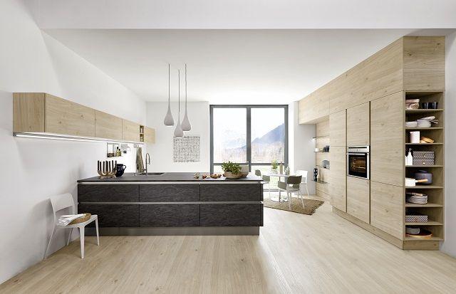 Fronty z linii Stone (Basalt) / Artwood (Asteiche Natur), Nolte Küchen