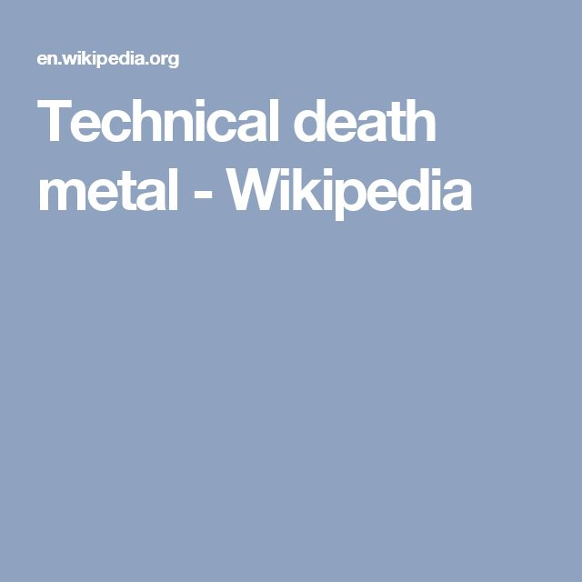 Technical death metal - Wikipedia