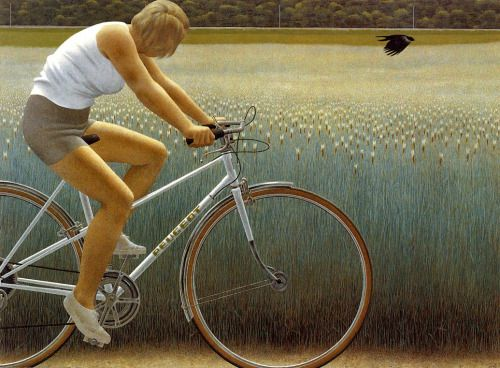 Alex Colville_Cyclist and Crow_1981