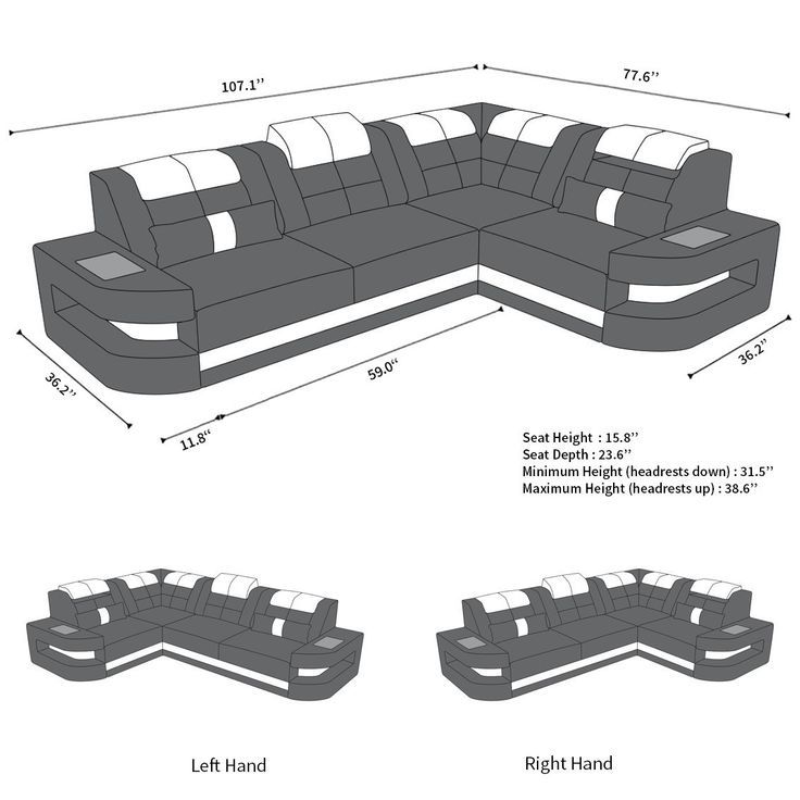 Ledercouch Denver L Form Sectional Sofa Couch Ledercouch