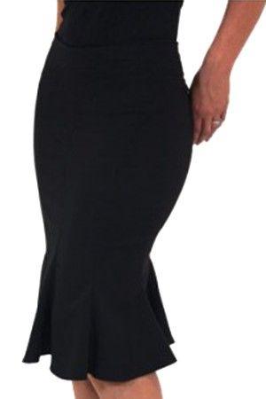 Tgrace Gored Skirt Volvieron las faldas bajo rodilla , son espectaculares