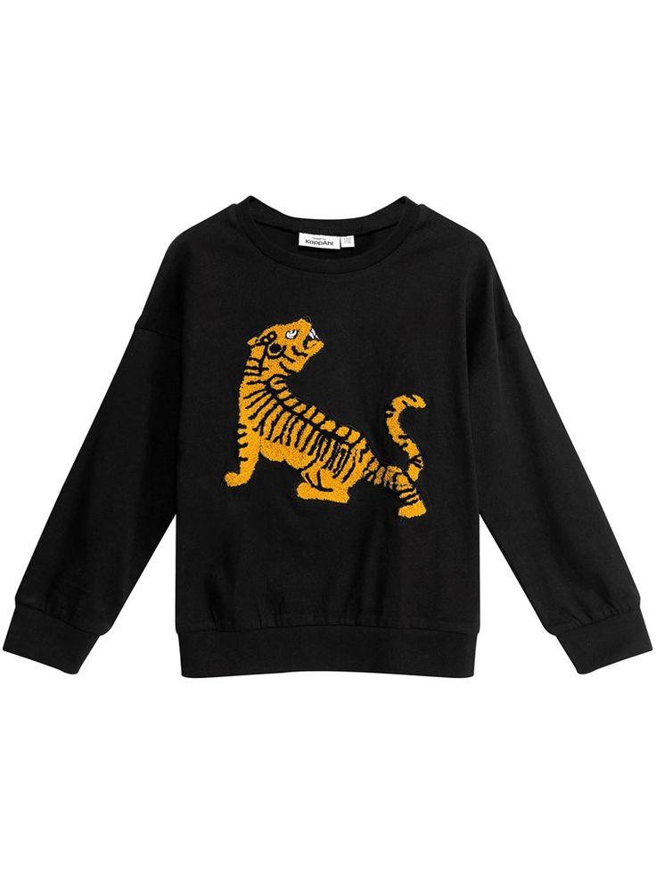 Tröja till barn med tiger-applikation – Köp hos KappAhl!