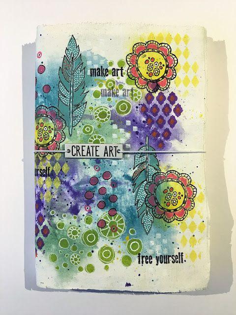 Minas kreativa: Create Art - fabric art journal cover