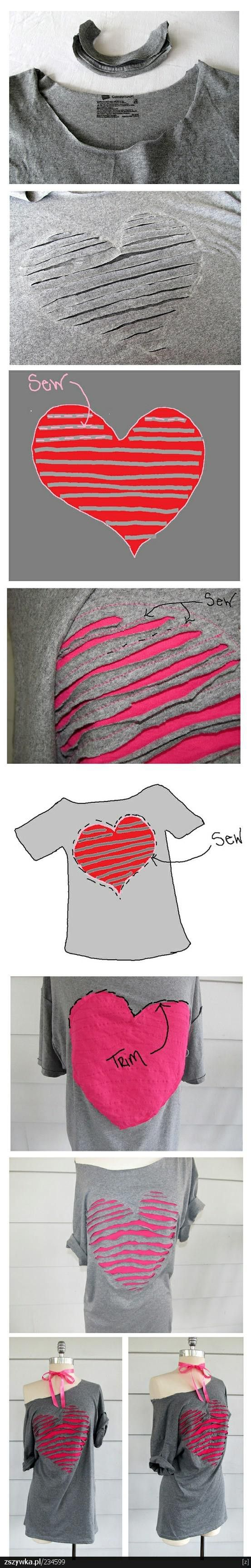 t-shirt re-do diy