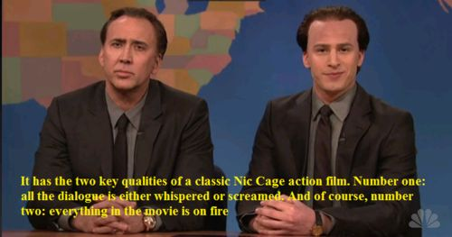 I love Nic Cage for this reason alone. Well, and he named his son Kal-El.
