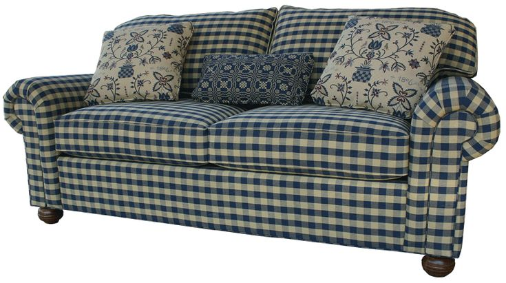 Lovely Country Couches #3 - Gingham Country Furniture Sofa