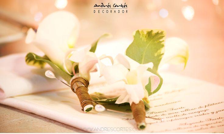 #andrescortes #Boutonieres  #WeddingIdeas