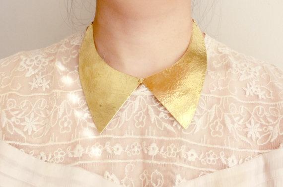 Collar Hammered Brass Choker