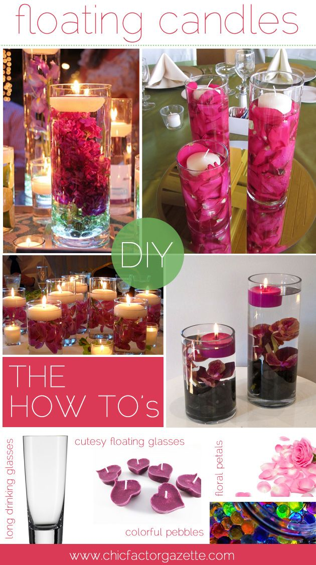 Learn how to do super adorable floating candle decor. #DIY