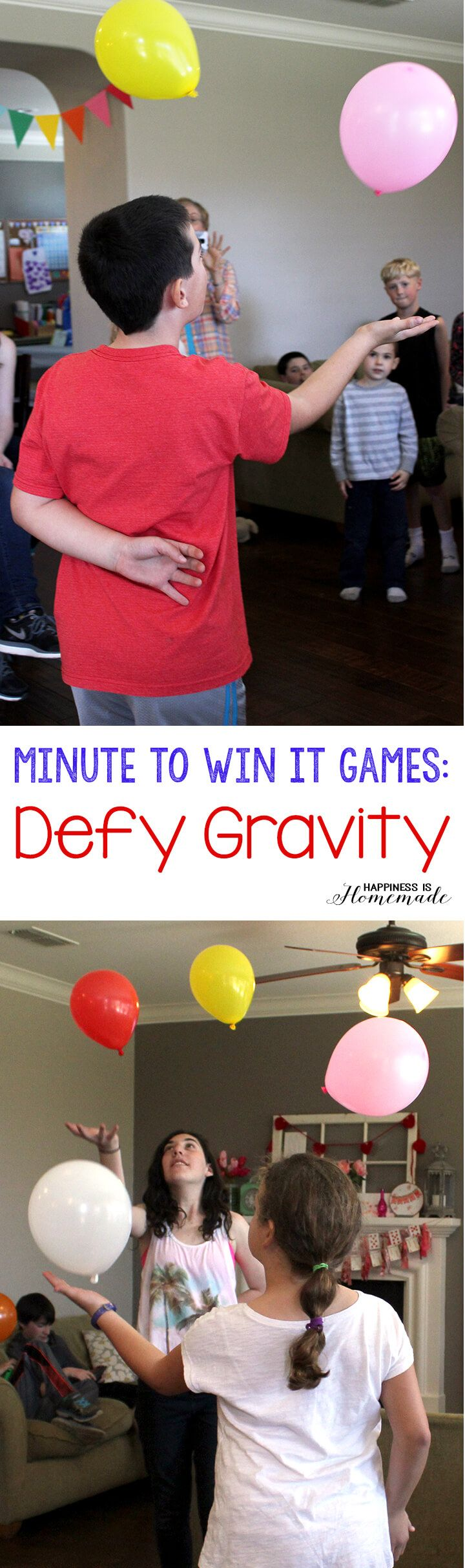 Fun: Keep It Up - Using only one hand, have your group keep two balloons from touching the floor. For a more challenging game, have two balloons per mom (use different colored balloons for each player).