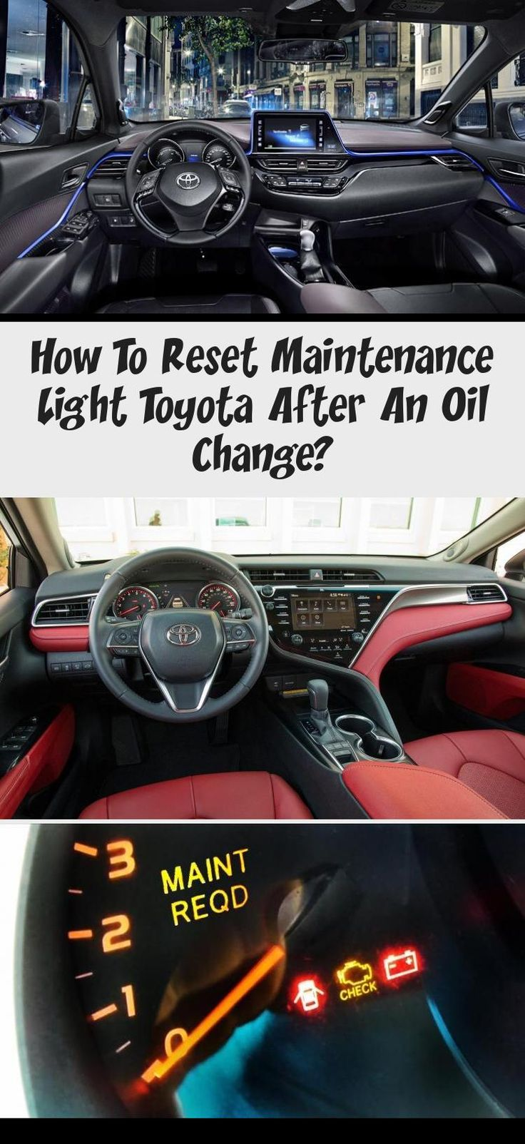 how to reset maintenance light on toyota camry 2018
