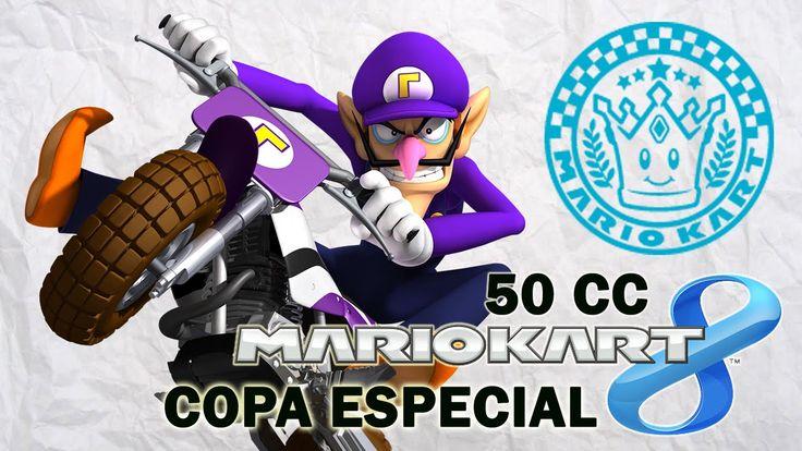 Mario Kart 8 Copa Especial - En español jugando con Waluigi. Gameplay de Mario Kart 8 en 50 cc jugando con Waluigi, en español. Visita mi sitio web: http://www.adverglitch.com