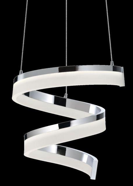 SPIRE Redo - závesné LED osvetlenie - chróm - 330x420mm