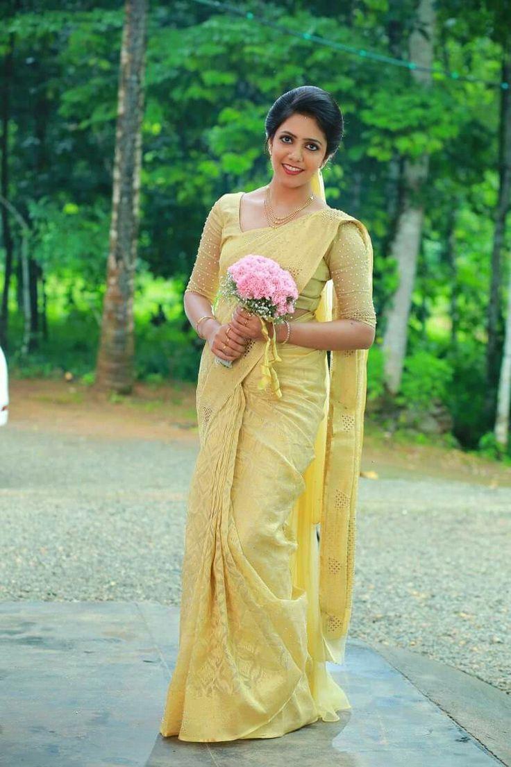 Pin by Alphonsa Thomas on Kerala bride | Pinterest | Saree ...
