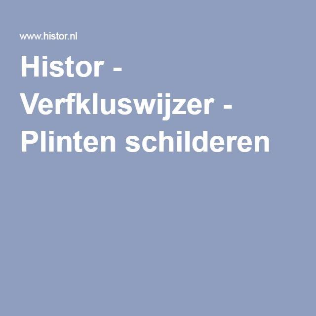 Histor - Verfkluswijzer - Plinten schilderen