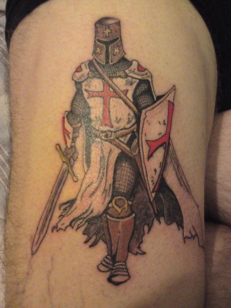 Knights templar shield tattoo design