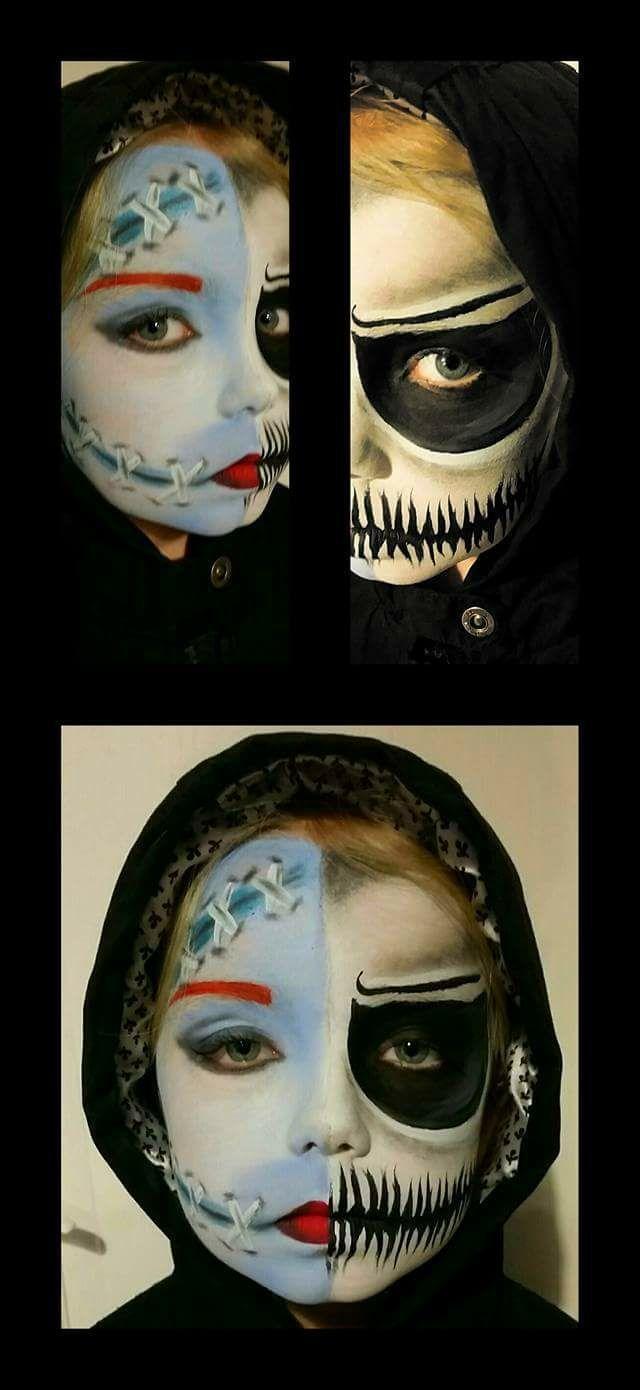 facepainting squelette et poupée vaudou