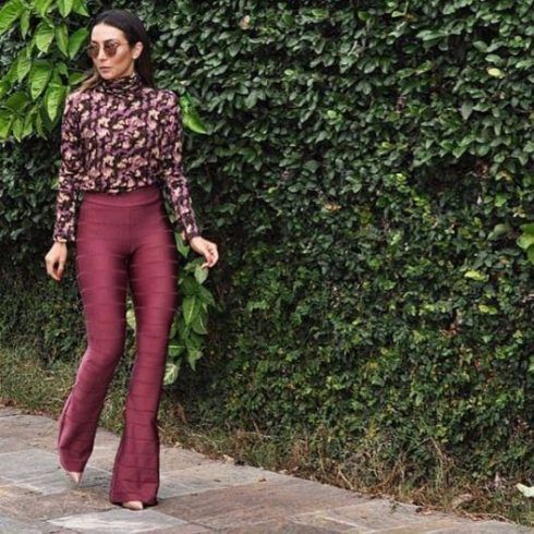 calça flare bandagem bordô | Moda Primavera verão in 2019 | Pinterest | Pants, Fashion and Jeans