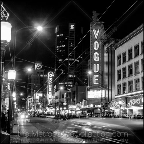 Black and White Photos of The Vogue Theater on Granville Street - Metroscap.com