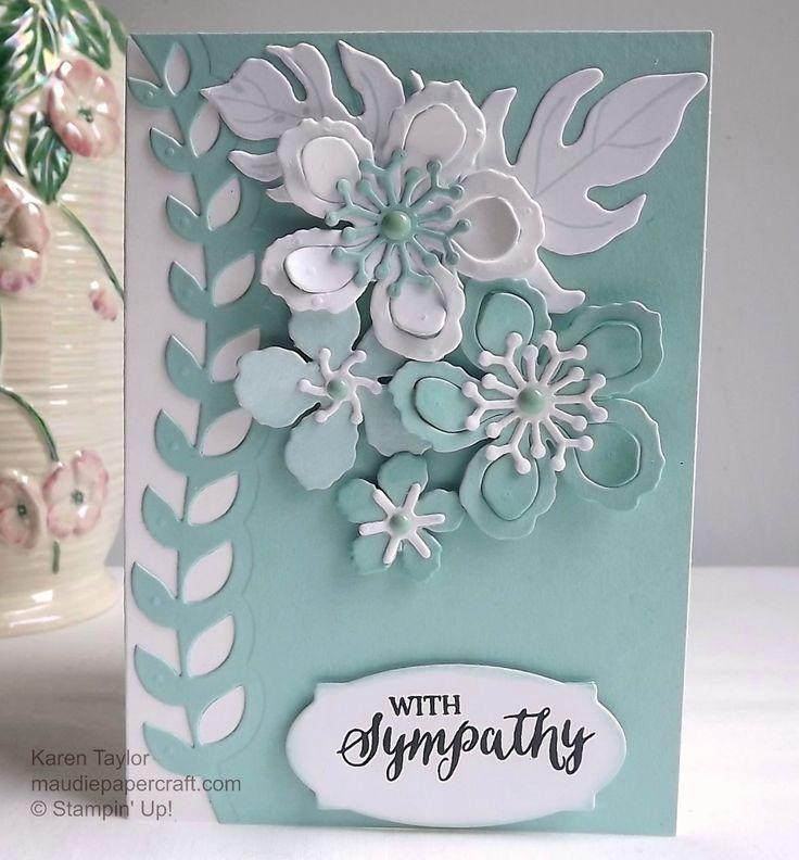 Stampin' Up! Botanical Blooms sympathy card