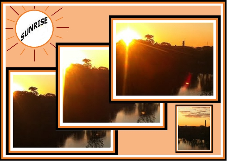 Sunrise Collage with Photos from     ¨Shot from my Bedroom Window.¨