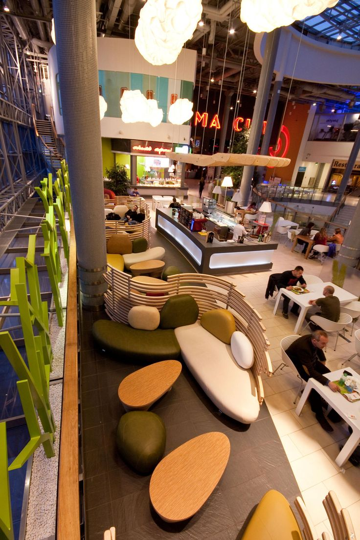 Foodcourt area in FORUM Shopping Centre by ZALEWSKI ARCHITECTURE GROUP_Gliwice, Poland