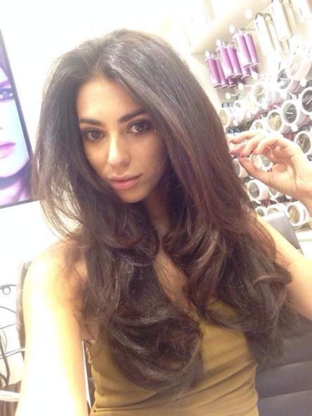 N@ruto Kaari$ Georgia Salpa shows off her new Easilocks hair extensions, 6 August 2014