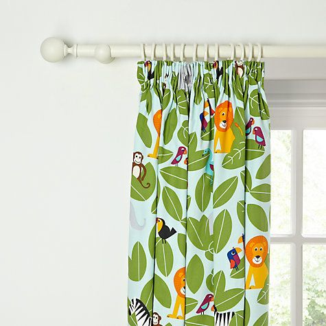 Buy little home at John Lewis Animal Fun Pencil Pleat Blackout Lined Curtains Online at johnlewis.com