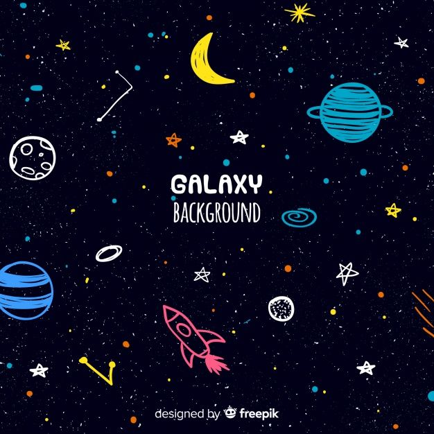Lovely Hand Drawn Galaxy Background Galaxy Background How To Draw Hands Space Doodles