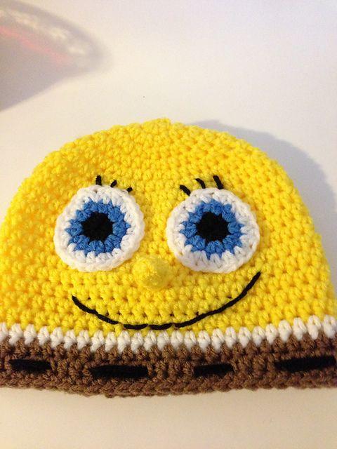 Free Crochet Pattern Spongebob Hat : Spongebob Crochet Hat Pattern pattern by Gramma Beans ...