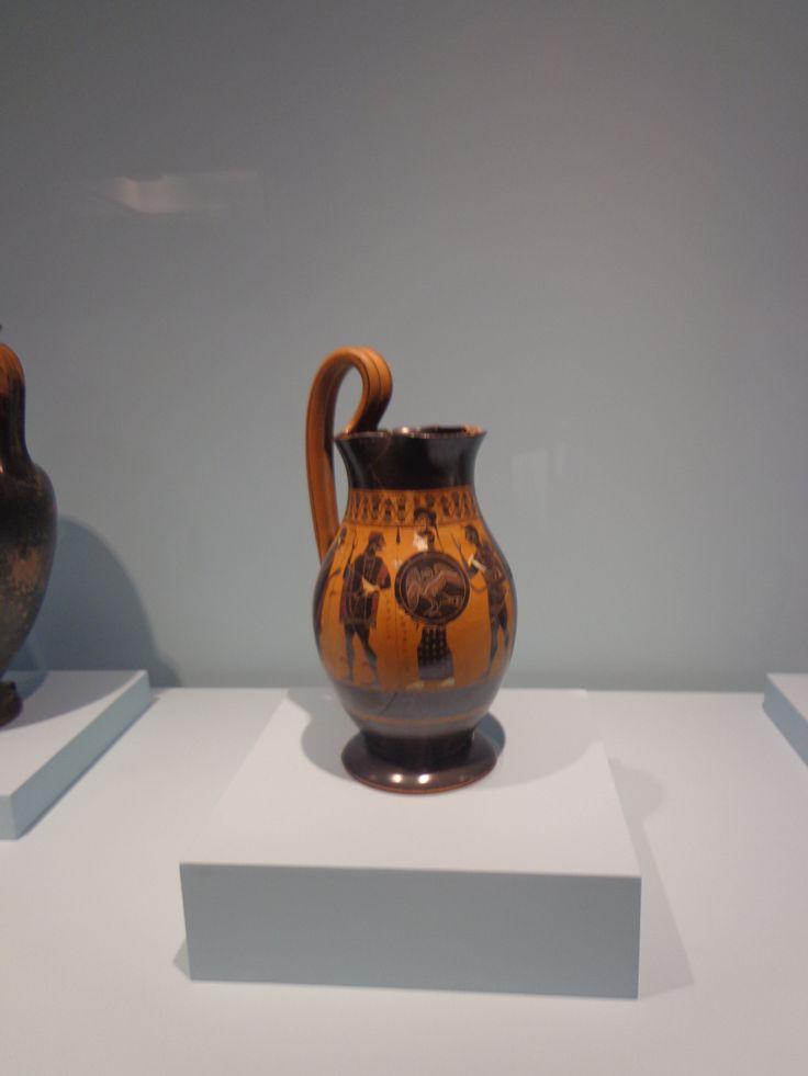 Hermes presentando a Heracles en el Olimpo