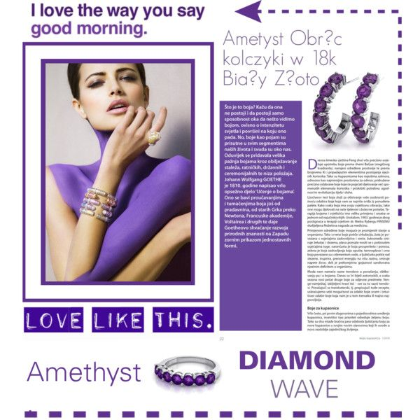 DIAMONDWAVE -Ametyst by isatusia on Polyvore featuring moda