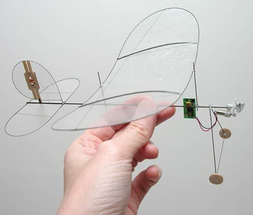 Carbon Butterfly indoor airplane