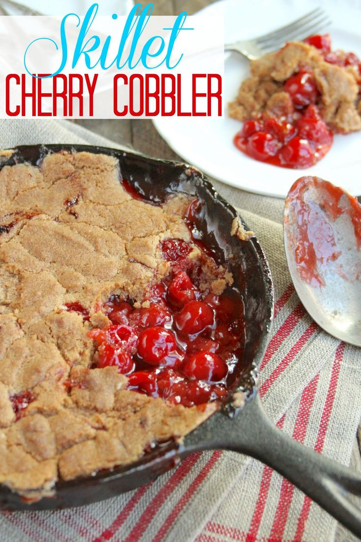 Skillet Cherry Cobbler recipe from The Country Cook