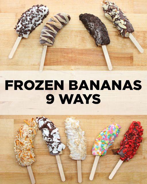 Frozen Bananas 9 Ways