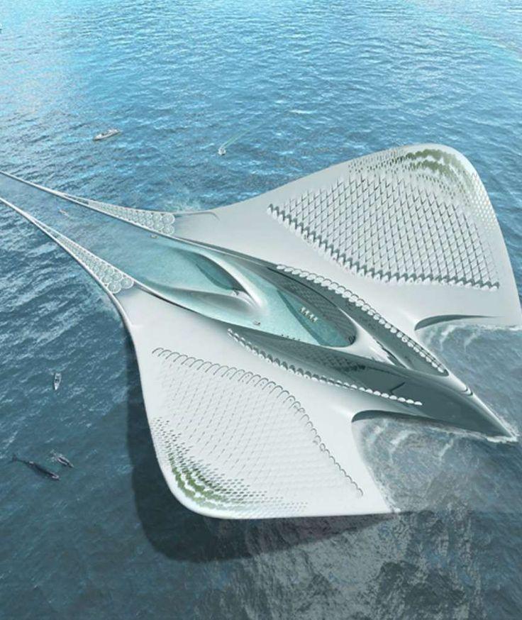 In Form eines riesigen Mantarochens: Architekt entwirft schwimmende Stadt im Meer