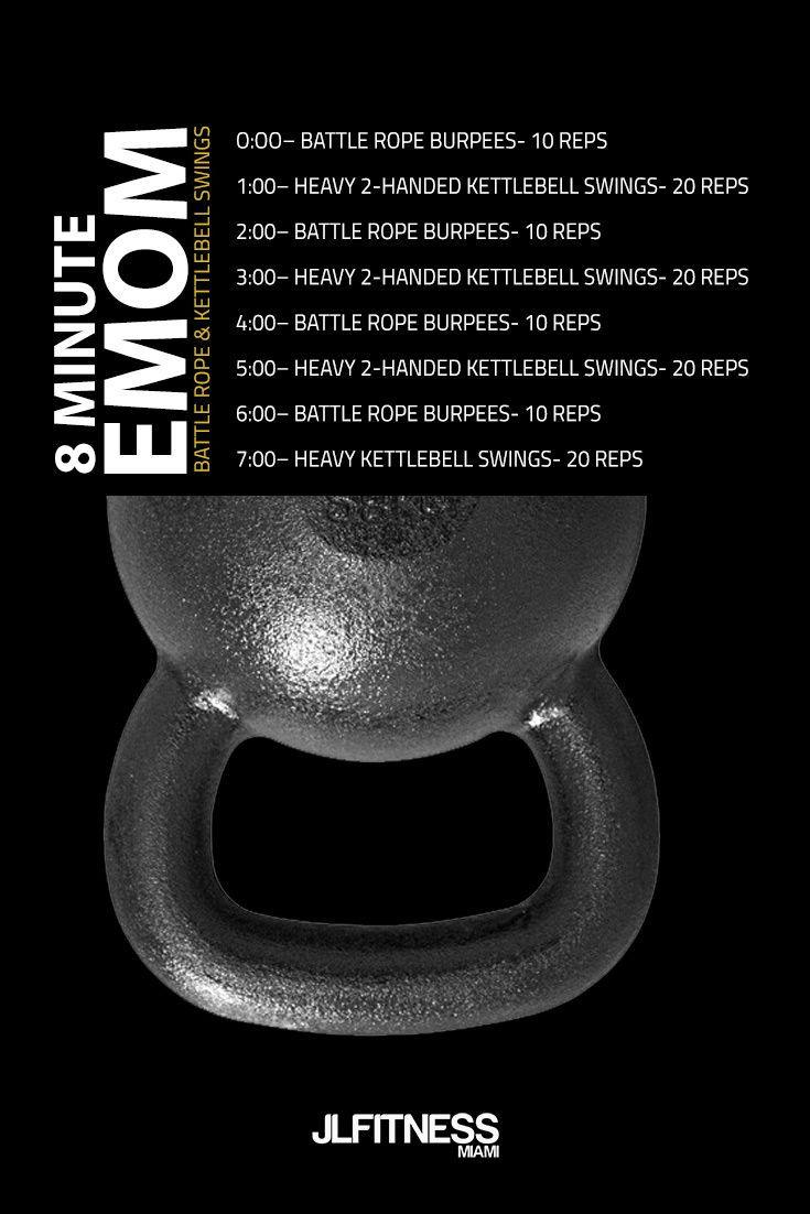 Emom Workout Battle Ropes And Kettlebell Swings Emom Workout Battle Ropes Kettlebell