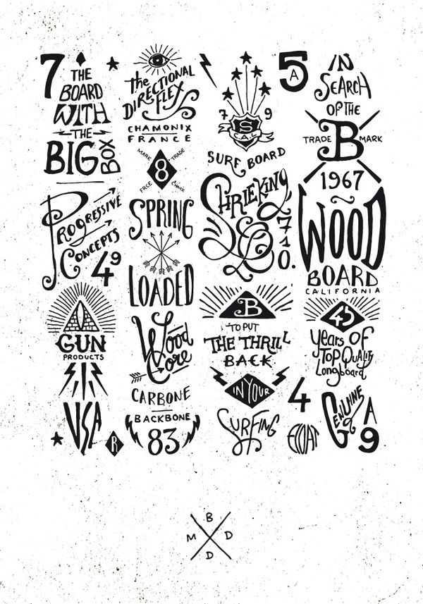 Graphic & hand-lettering boards by BMD Design