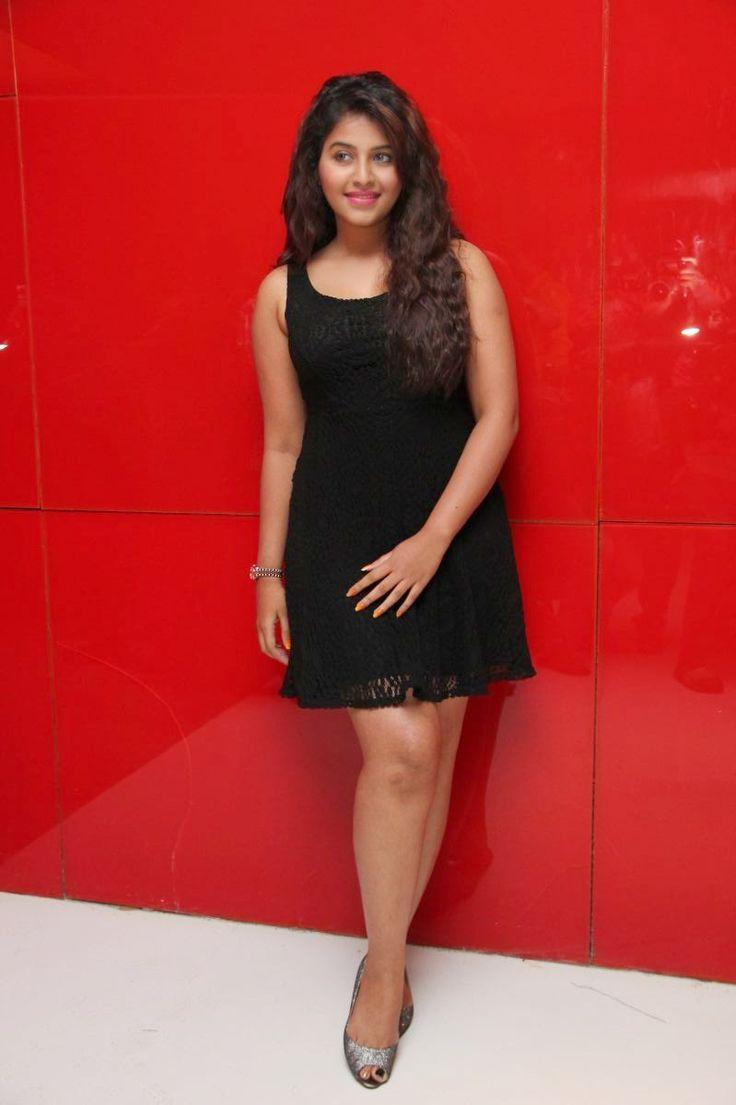 Actress Anjali Latest Cute Hot Exclusive Beautiful Black Mini ...
