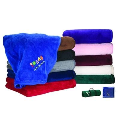 Promotional Giftcor Marketing Micro-Plush Blanket | Promotional Blankets | Promotional Products